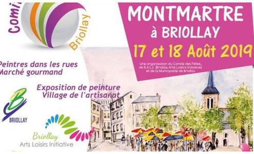 Exposition peinture montmartre Briollay