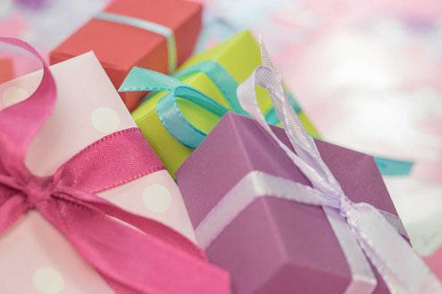 Schön verpackte Geschenke