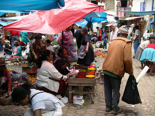 Marktbesuche in Peru sind ein besonderes highlight!