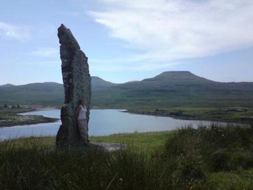 Millenium Stone erected 2000 on order of Chief John MacLeod of MacLeod