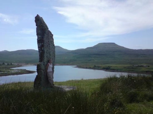 Millenium Stone erected 2000 on order of Chief John MacLeod of MacLeod