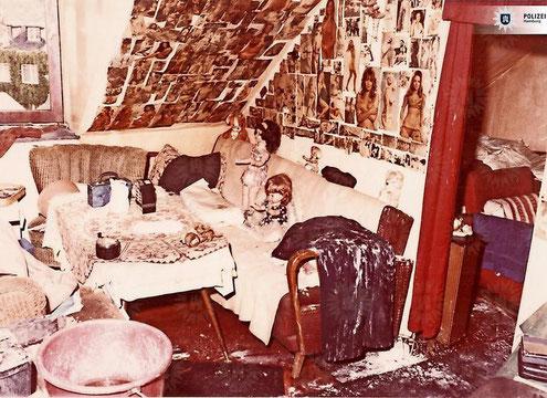 Foto der Wohnung von Fritz Honka - Quelle: Polizei Hamburg