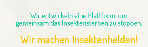 Screenshot von www.insektenhelden.de