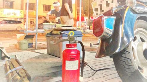 火気ある所に消火器