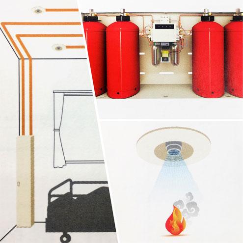 パッケージ型自動消火設備はスプリンクラー設備の代替消防設備