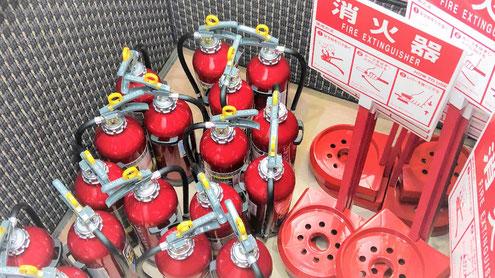お陰様で数多くの消火器を設置