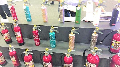 東京国際消防防災展で展示されていた住宅用消火器