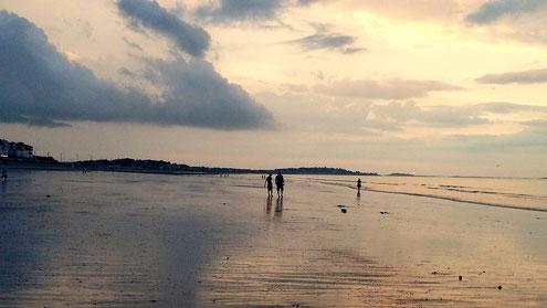 夕暮れの海辺@ボストン