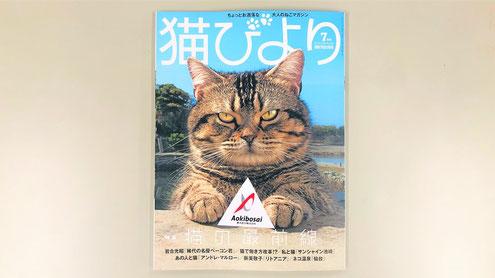 """表紙 """"特集 猫の最前線""""に弊社のタマスケ"""
