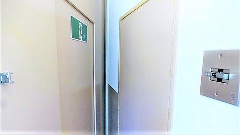 防火戸ラッチ くぐり戸 誘導標識
