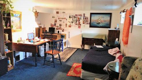 ホームステイ先の部屋