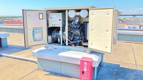 自家発電設備のメンテナンスも電気主任技術者