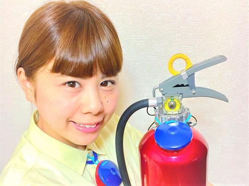 """""""たまちぇる""""が消火器"""