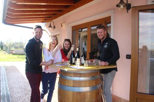 Weingut Vincenzi Cola Lazise Gardasee - Weinverkostung vor Ort