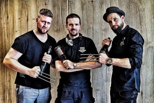 Christian Nett mit dem Team der Weinschmeckeria