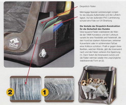 Aufblasbare Hundebox; Tami; Hundebox mit Airbag; Test