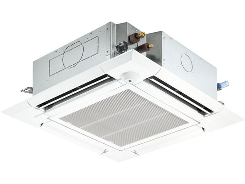 三菱電機 天井カセット型4方向の業務用エアコン、既設配管を利用した据付工事の参考価格です。
