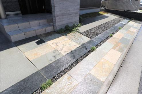自然石舗装:エクシスランド ベルストーン方形