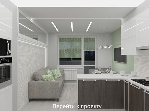 Дизайн потолка в интерьере квартиры в стиле хай-тек