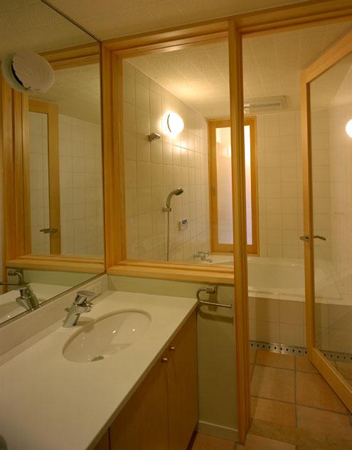 住宅 設計 建築家 平賀敬一郎 高級住宅 北欧デザイン ガラス張り 浴室