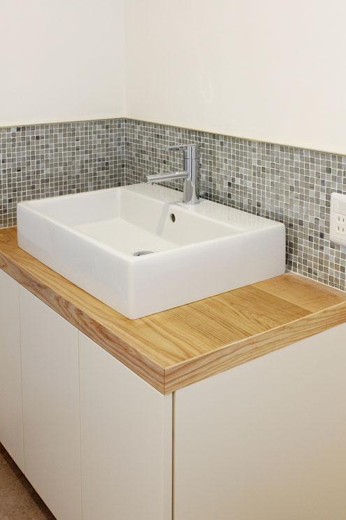 住宅 設計 オリジナル洗面化粧台