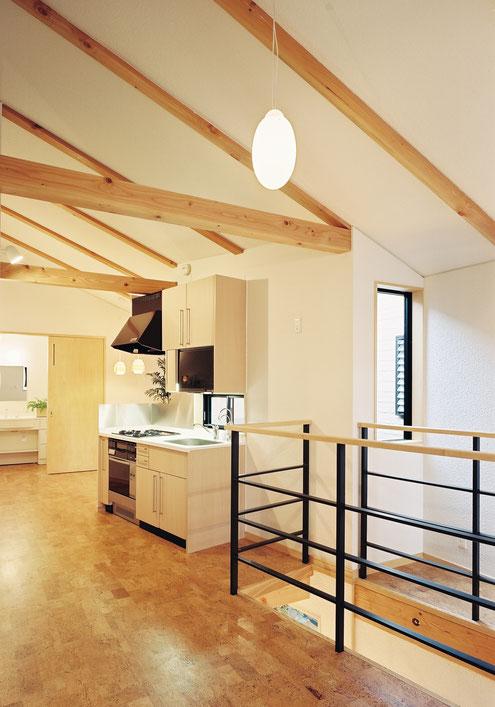 狭小住宅 設計 紙質クロス 内装