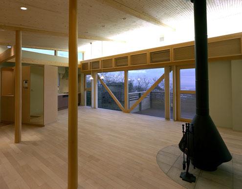 住宅 設計 建築家 平賀敬一郎 高級住宅 北欧デザイン ミーレ 暖炉 ポーゲンポール