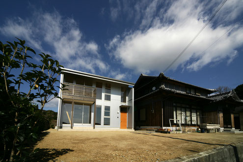 淡路島の家 外観 注文住宅 建築家