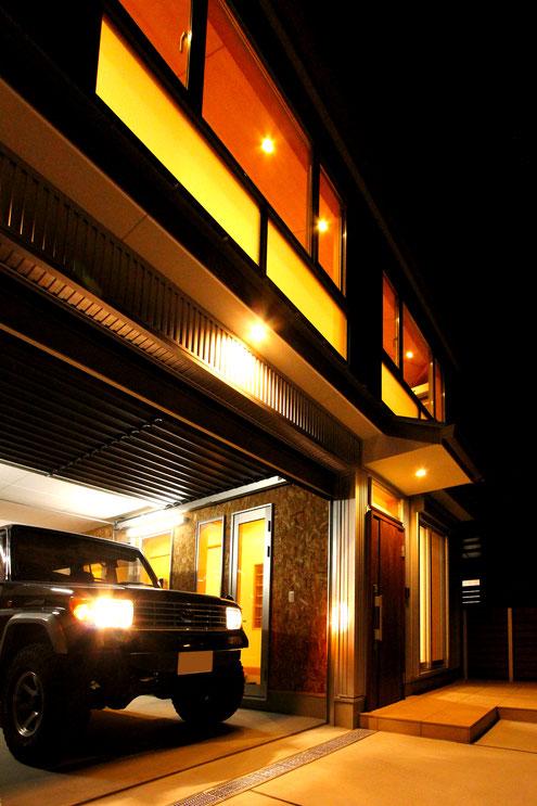 ガレージハウス 設計 インナーガレージ オーバースライドシャッター
