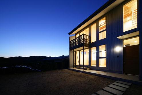淡路島の家 夜景 注文住宅 建築家