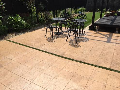 デザインコンクリート スタンプコンクリート ステンシルコンクリート画像 デザインコンクリート庭・外構