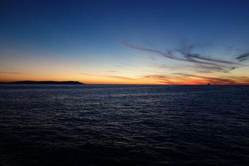 Coucher de soleil du la mer