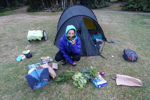 Camping Caleta Gonzalo, sourir avec courgette