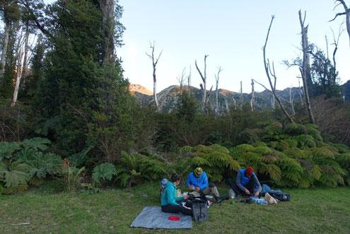 Spot camping pied volcan Chaiten