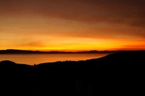 Abendstimmung am Titicacasee