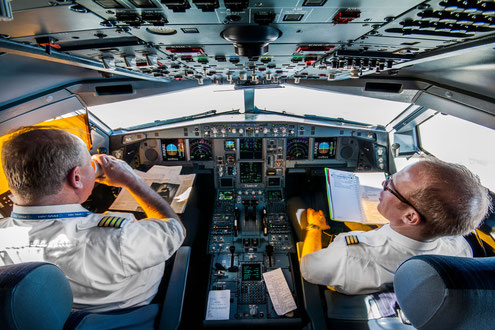 Ziel eines jeden ATPL Schülers: Ein Platz wie dem A330 auf Langstrecke zu fliegen