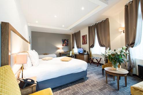 Hôtel Marotte 5 étoiles, hôtel de charme, hôtel de luxe, boutique hôtel Amiens, cosy et chic, proche de la gare et de la cathédrale, chambre confort, balcon, chambre lumineuse