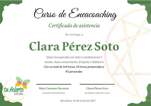 Eneacoaching, Diploma