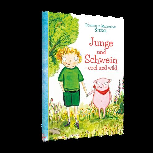 Schwein und Junge sind die Helden der neuen saukomischen Kinderbuchreihe...