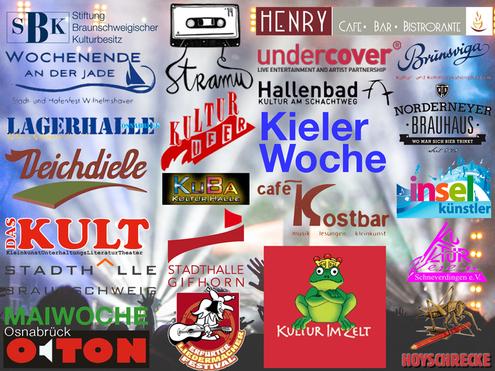 Referenzen, ulf hartmann singer-songschreiber, Live-Musik aus Braunschweig, Singer/Songwriter, Maiwoche, Kultur im Zelt, Kieler Woche, Deichdiele Hamburg, Hallenbad Wolfsburg, undercover, Lagerhalle, Brunsviga, Kulturufer, Stramu