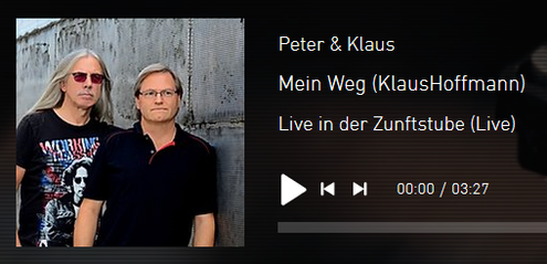 """Live - Mitschnitt """"Zunftstubb""""  Liederabend  Peter & Klaus"""