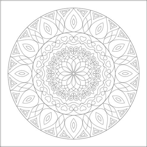 曼荼羅塗り絵の無料画像