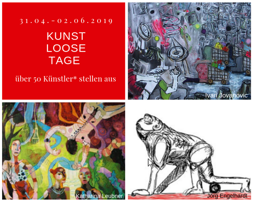 (c) Oderbruch-Blog.de  Collage KunstLooseTage 2019 einige Künstler des Oderbruchs Oderland Oderbruch-blog.de