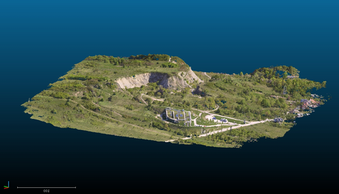 Aerial images from surveys using drones can produce 3D models or maps