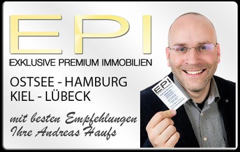 IMMOBILIENMAKLER KIEL HAMBURG  OSTSEE LÜBECK ANDREAS HAUFS - EPI IMMOBILIEN IMMOBILIENAGETUR DPI