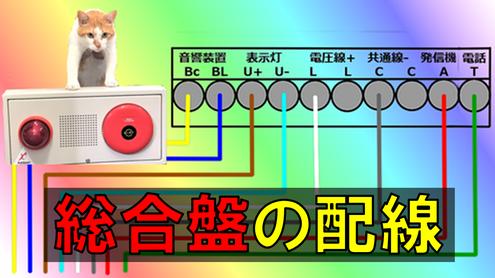 総合盤の端子台シミュレーション図