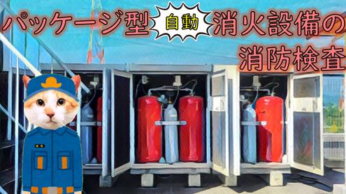 (6)項イ 病院にパッケージ型自動消火設備を設置