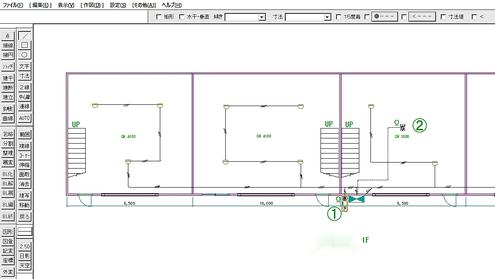 倉庫における自動火災報知設備の図面