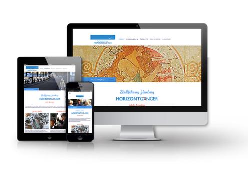 Horizontgänger Homepage in responsivem Design