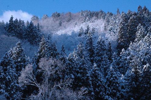 能家ホトラ山の冠雪